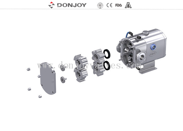 Viscosity High Purity Pumps , Mini Rotary Lobe Pump For Cheese And Whey Yogurt Transfer