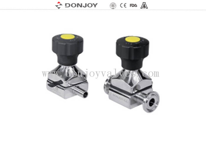 Mini Direct way Clamp Sanitary Diaphragm Valve with plastic handwheel
