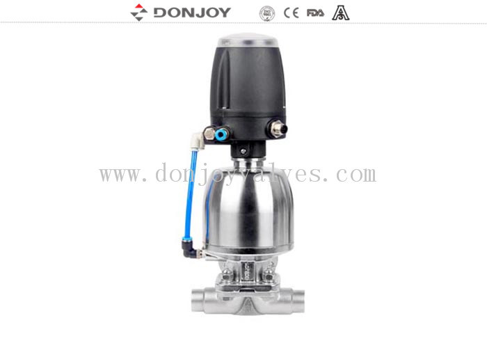 Position Sensor Pneumatic Diaphragm Valve With Forging Casting Stainless Steel 316L