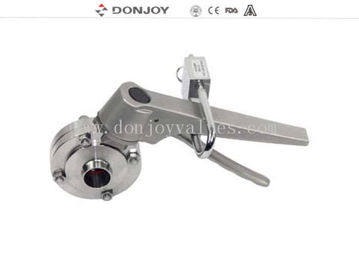 Manual Weld Sanitary Buttterfly Valves With Stainless Steel Lockable Multi Handle