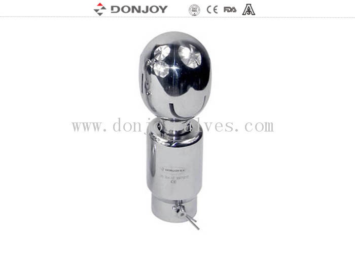 DIN / 3A / SMS Rotating CIP Spray Ball Thread Connection Washing Nozzle