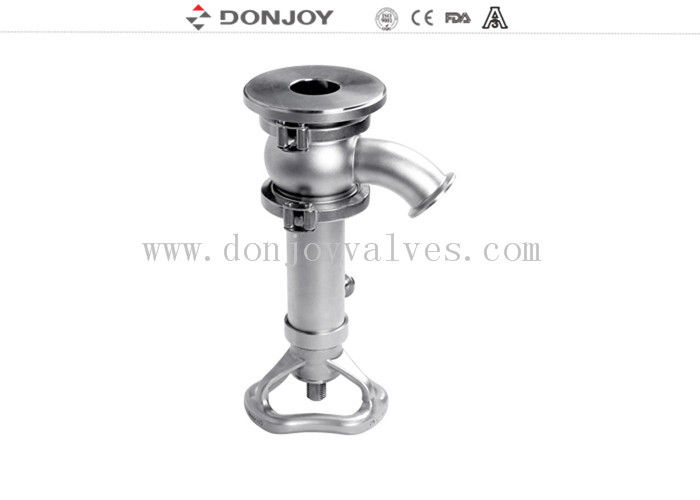 304/316L handwheel internal open Tank Bottom Valve with Valve Core Shrink Type