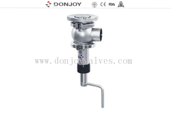 "2""  DONJOY stainless steel Manual Elbow tank bottom seat valve"
