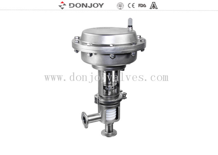 Stainless steel sanitary diaphragm regulating pneumatic reversing valve with square positioner