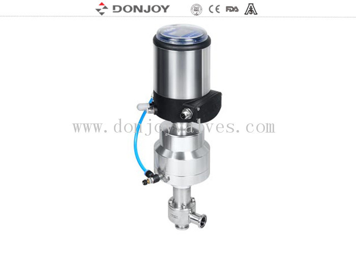 Stainless Steel Pneumatic Actuator Valve For Aseptic Regulating With Controlller / Positioner