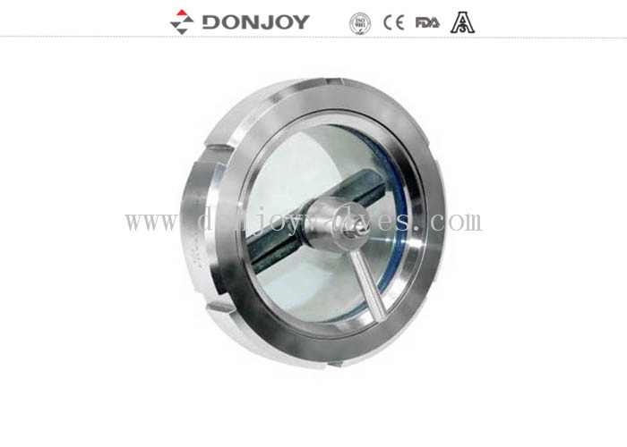 Waterproof Sanitary Design Stainless Steel Sight Glass / Flanged Sight Glass